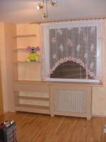 Průvzdušný obklad radiátoru v dětském pokoji